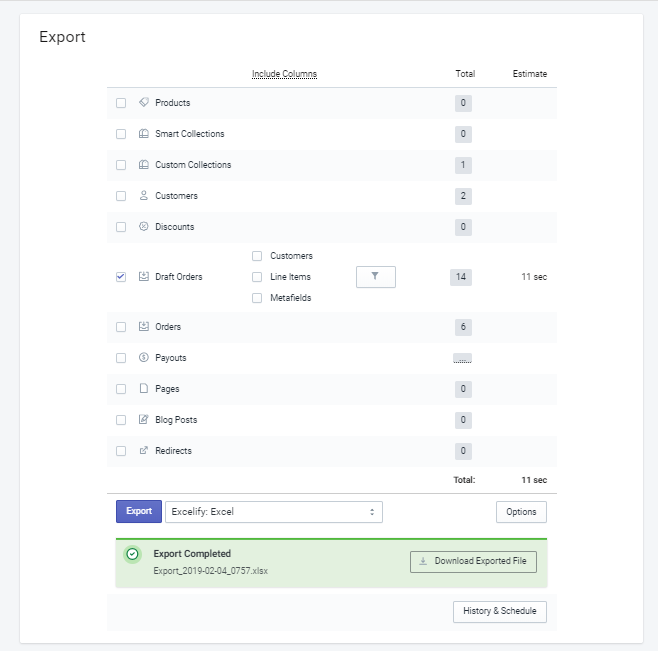 1 - Export Shopify Draft Orders