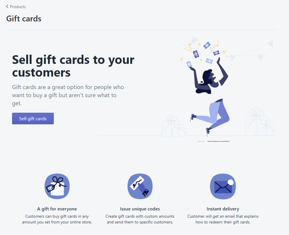 1 - activate Gift Cards in Shopify
