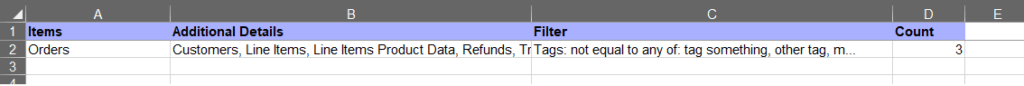 10 - export Shopify orders excel csv export summary