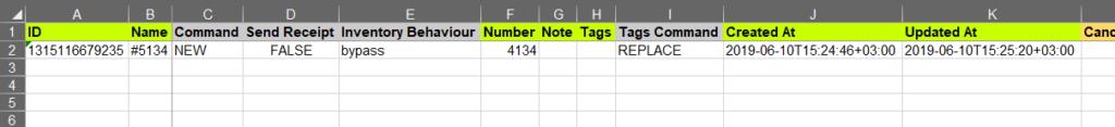 2 - Shopify Excel filter export order bulk edit