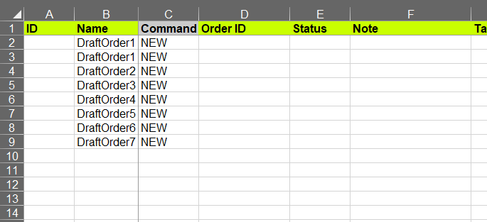 Import Draft Order names