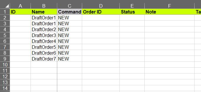 Import Draft Order names