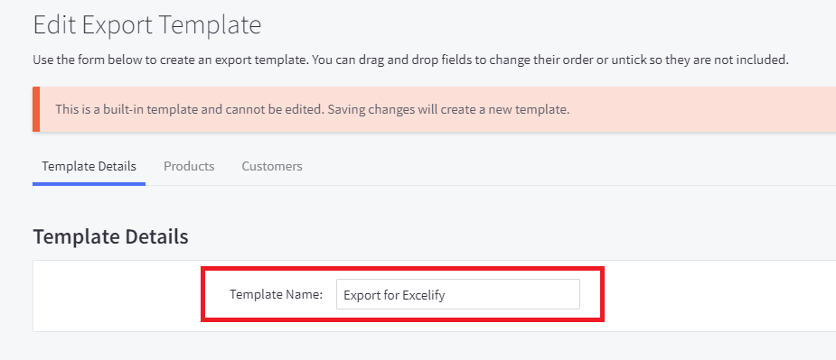 2. Export Products from BigCommerce custom template migrate to Shopify