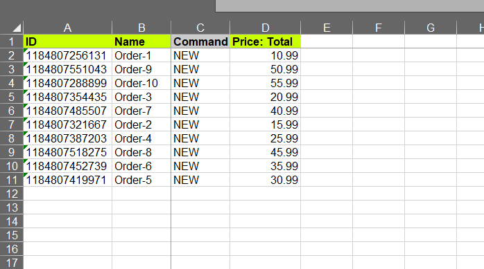 Edit Shopify orders exported file