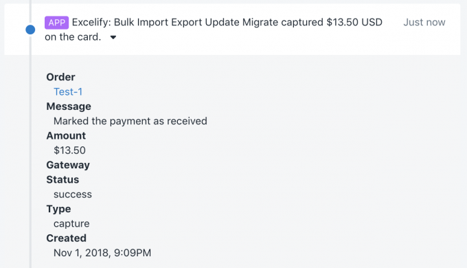 Bulk captured Order payment in Shopify|Create Shopify Orders with Authorized payment|Imported Shopify Order with authorized payment|Excelify export existing Orders to caapture payments for|Update Shopify Order - add capture transaction|Imported Shopify Order capture transaction|Import Excel table of transaction void and capture to Shopify|Import Shopify Order transactions - void previous and create new capture payment