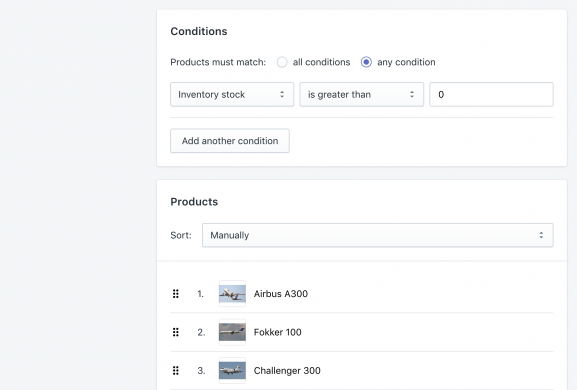 Shopify Automated Collection with Products for Exporting Shopify Automated Collection Products with Positions export