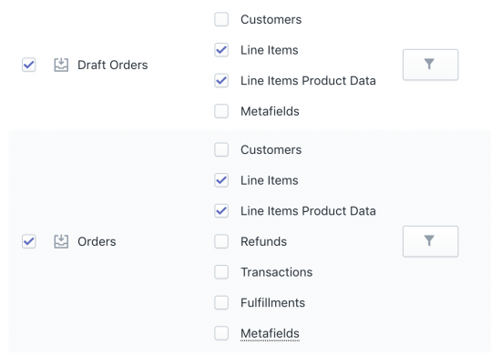 Shopify Export Orders with LIne Items Product Data|Shopify exported additional product columns for Orders and Draft Orders