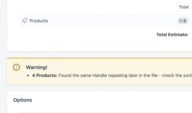 Shopify import data safety checks
