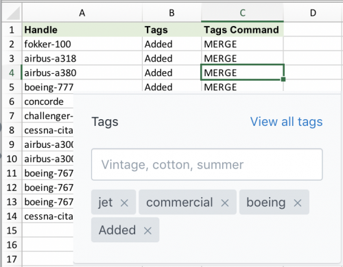Shopify Add Tags