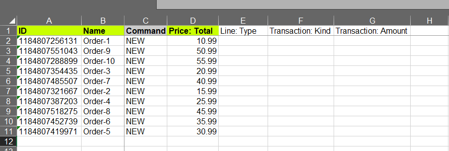 Add columns to Shopify Orders file