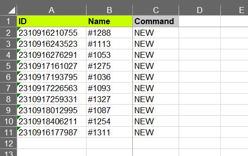 3 -edit exported file - remove columns