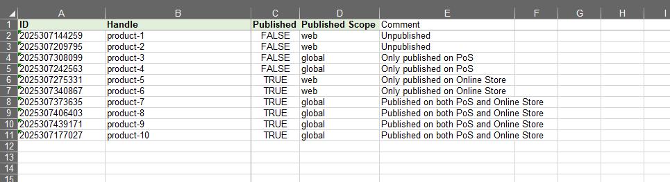 3 - update published columns