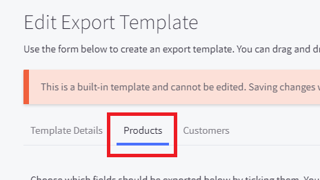 3. Export Products from BigCommerce custom template migrate to Shopify