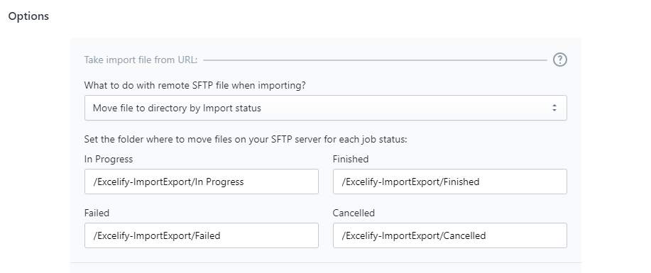 3.3 - move file options import batch files csv xlsx excel excelify shopify automation monitoring server