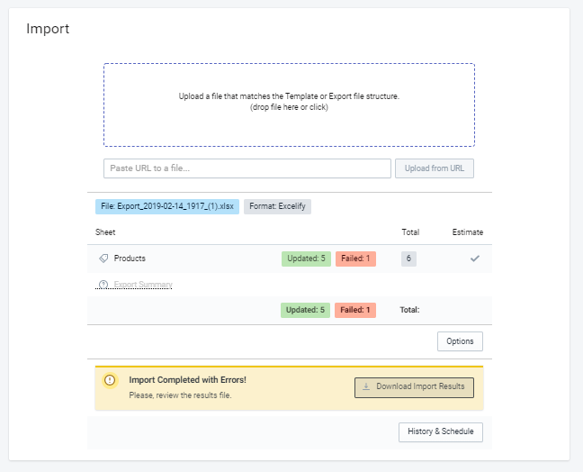 Import Multi location update in Shopify
