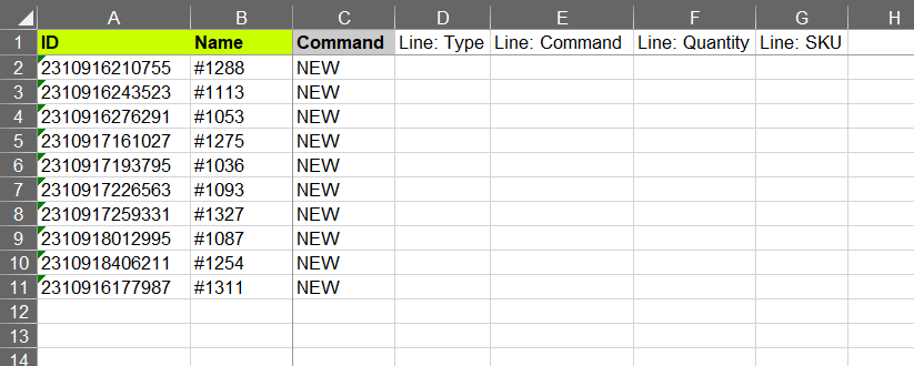 4 -edit exported file - add columns