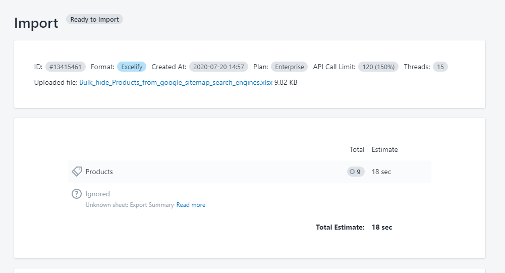 5 - export products to bulk hide from google sitemap search engines excelify