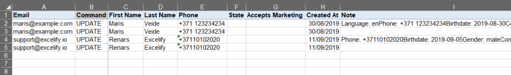 6 - correct lightspeed data in bulk in excel
