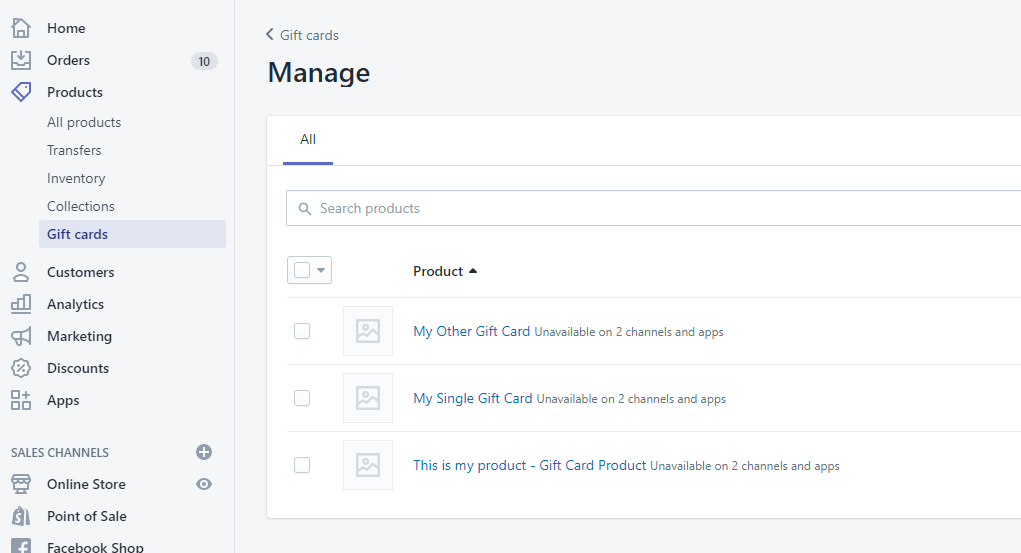 9 - import gift card products shopify bulk excelify csv excel xlsx