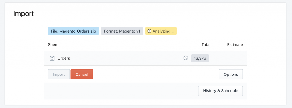 Analyzing Magento Orders import to Shopify