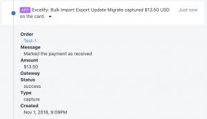 Bulk captured Order payment in Shopify