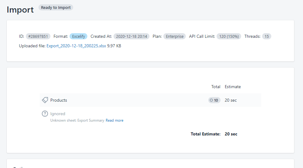 Bulk update Shopify product Status 3.1 - import your file