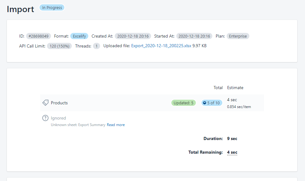 Bulk update Shopify product Status 3.2 - import your file