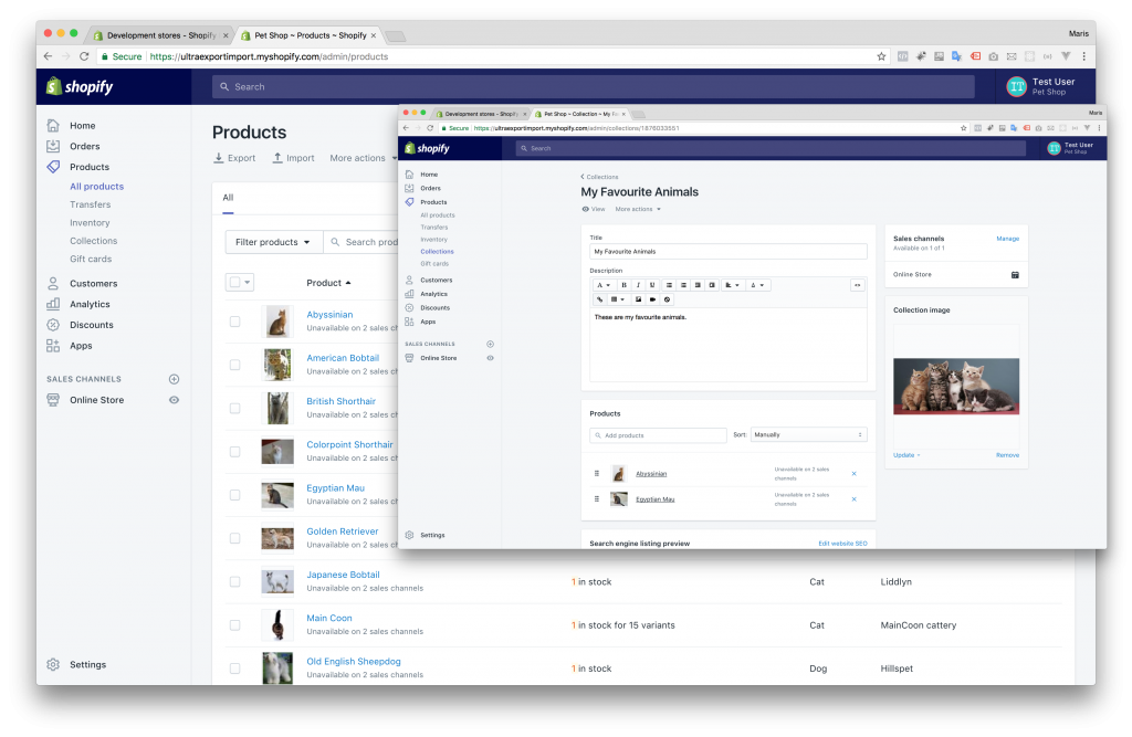 Clone Shopify Store - Step 0 - Products & Collection