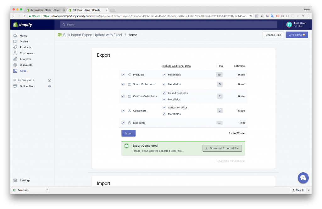 Clone Shopify Store - Step 1 - Export 2 - Download