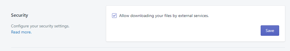 Enable public downloads Excelify