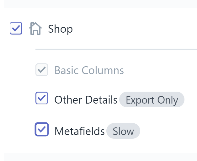 Export Shopify shop details excel csv