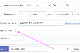 Export from Shopify csv file not zipped