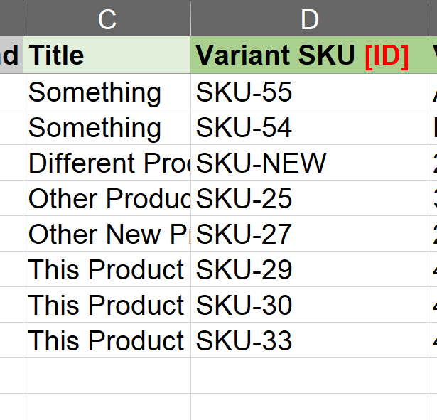 Force identify product by sku featured