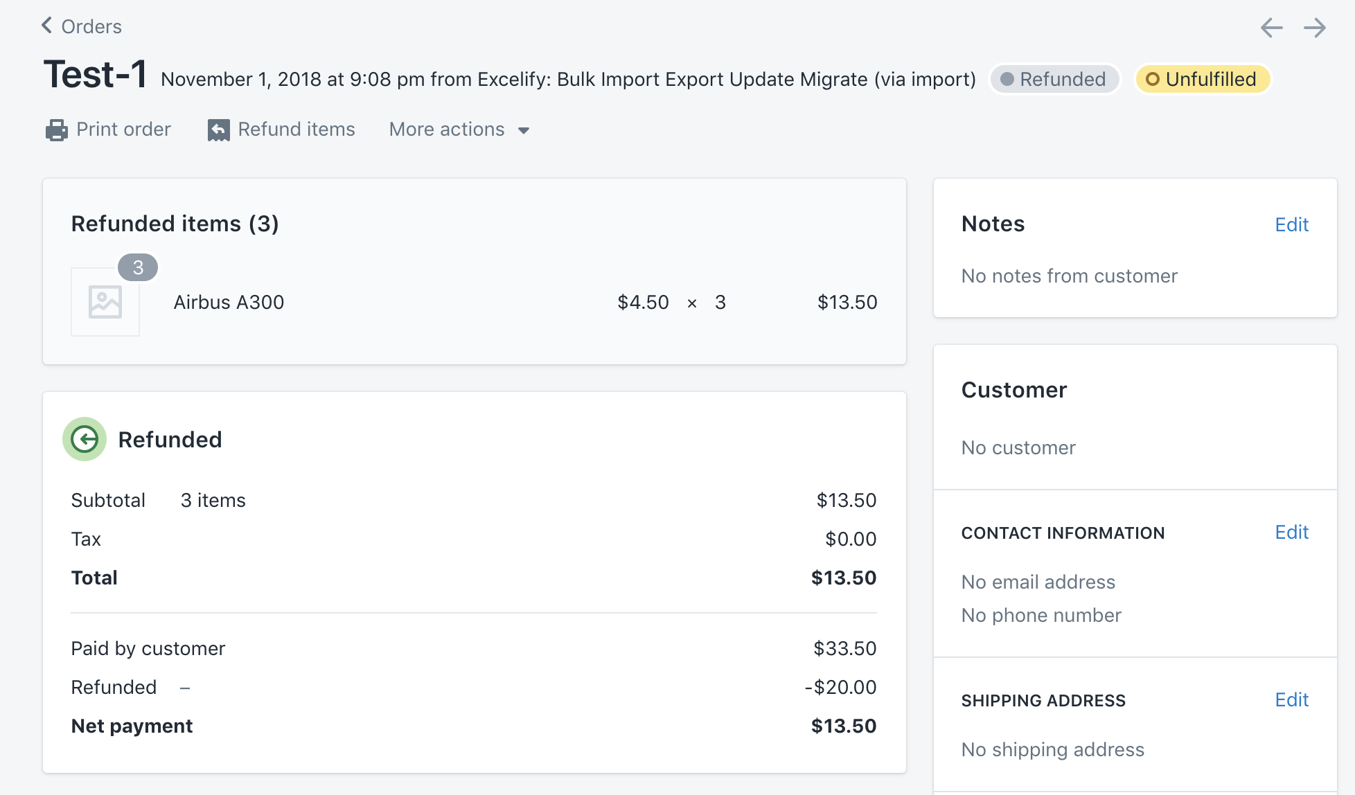 Import or Void Transactions for existing Shopify Orders