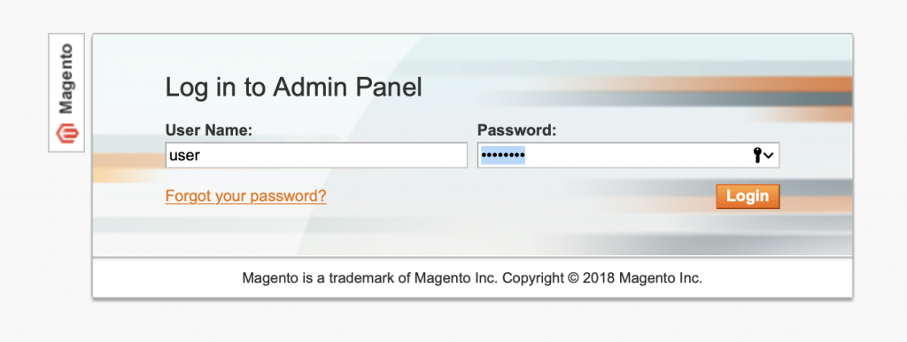 Magento 1.9 Admin Panel Login to export to Shopify