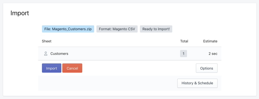 Magento 2 migrate to Shopify using Excelify - upload Customers file