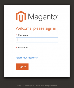 Magento v2 Login screen - to migrate to Shopify