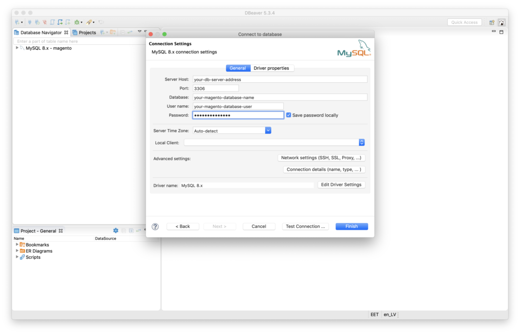 Migrate Magento to Shopify - 1.2.3. Enter connection details