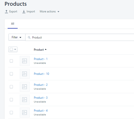 Publish unpublish shopify products featured