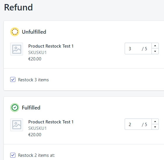 Refund Restock Shopify Orders in bulk