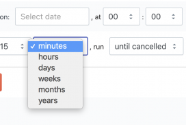 Schedule Shopify import export by minutes interval