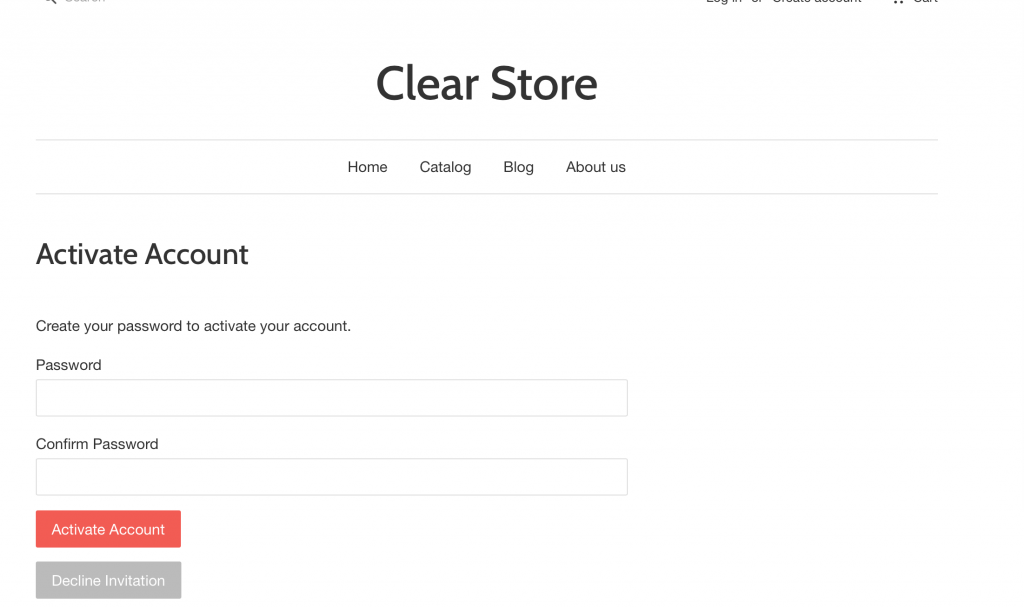 Activate Account Page