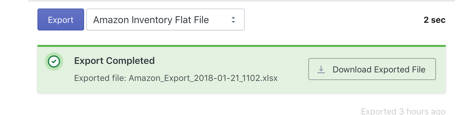 Export Amazon Flat File