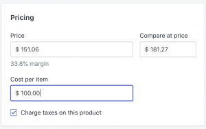 Shopify Cost per Item for product Variants _