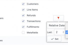 Shopify Orders Export Relative Time Filter