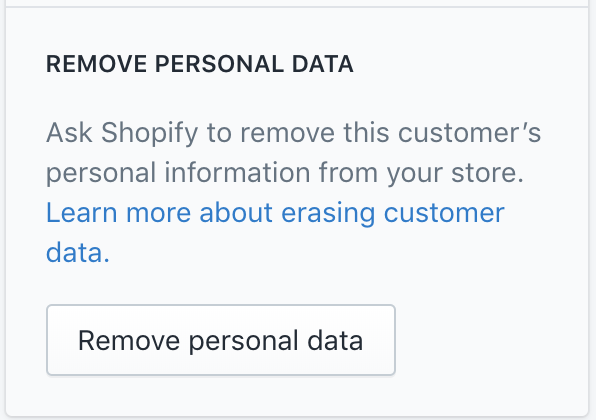 Shopify Remove Customer Personal Data