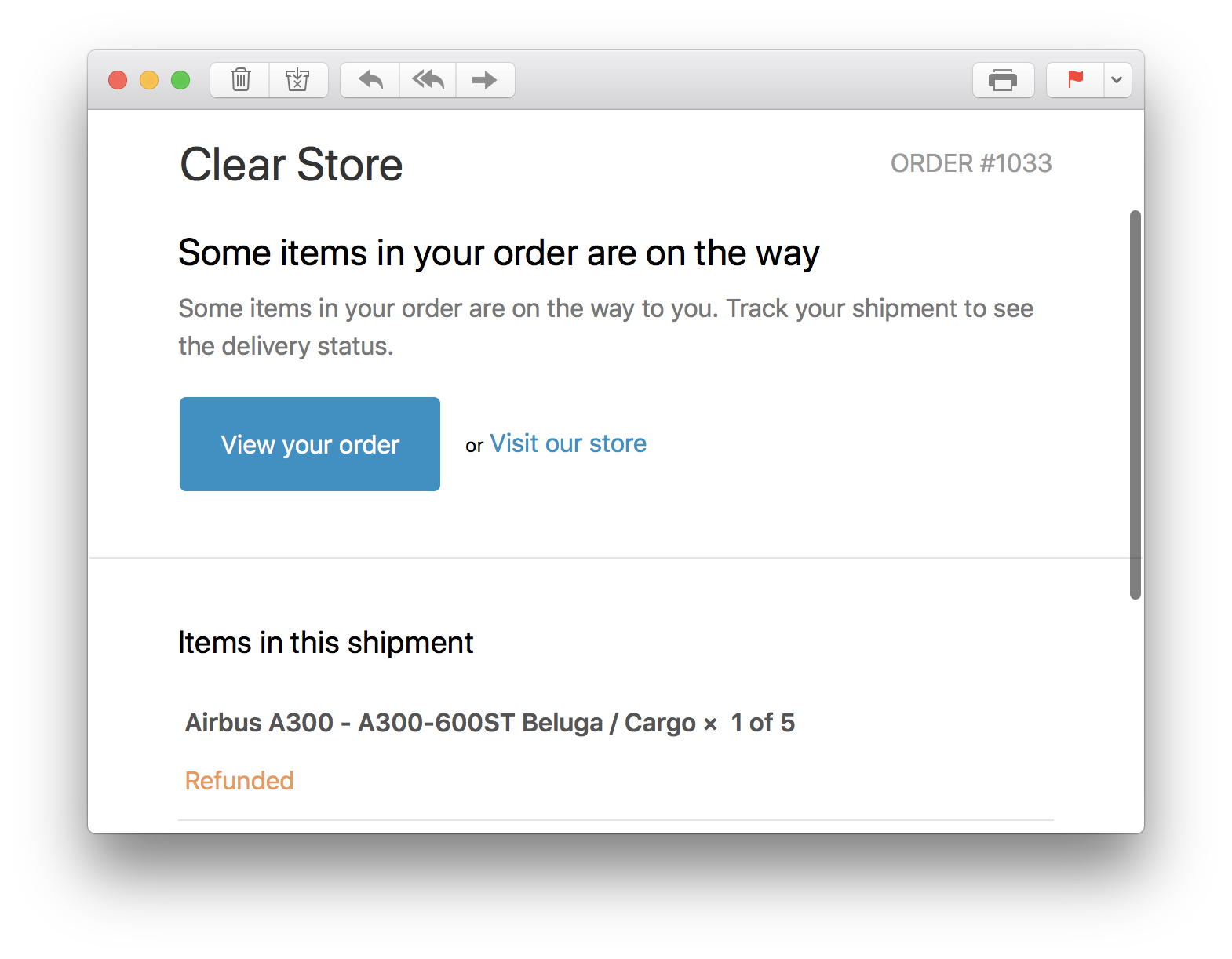 Shopify Shipment Email Confirmation