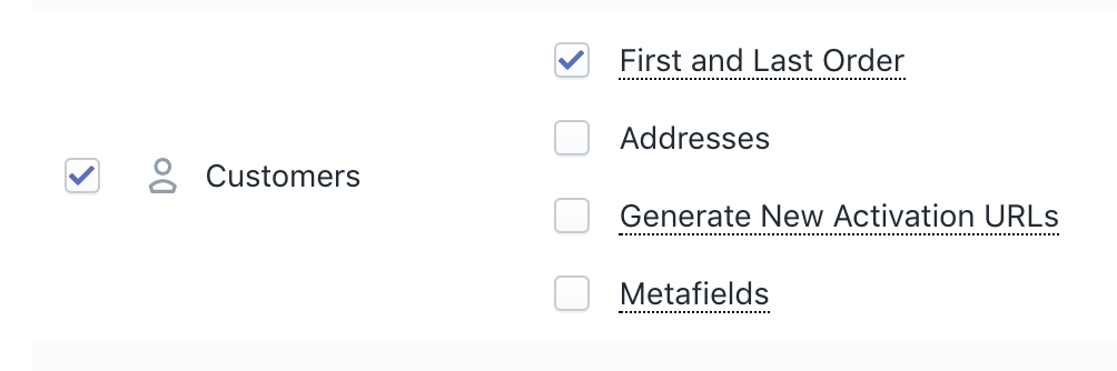 Shopify export Customers with First and Last Order data