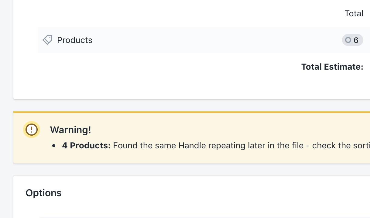 Shopify import data safety checks