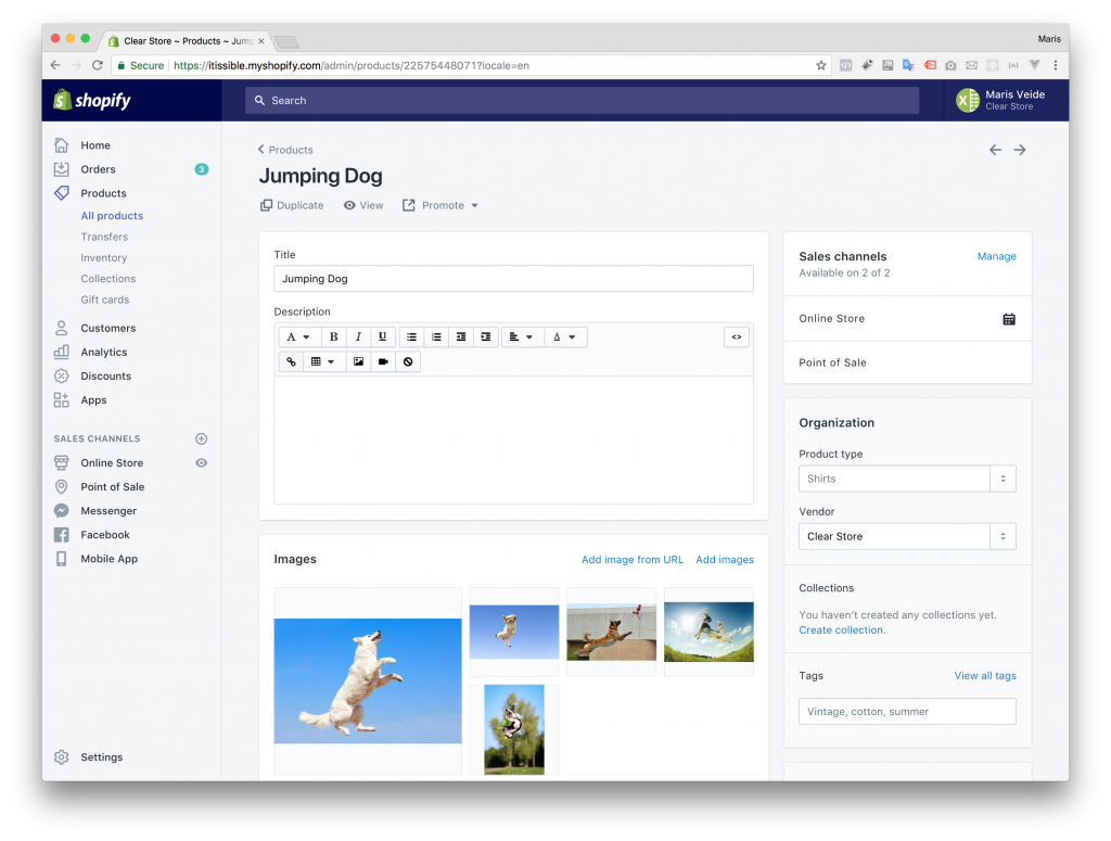 Shopify imported several images delimited by semicolon